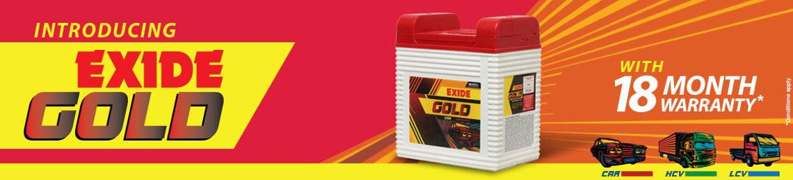 Exide Gold, batteries for car, HCV, LCV