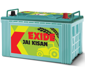 Exide Jai Kisan - an exclusive battery, specially manufactured for tractors