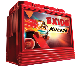 Exide Mileage batteries designed for cars and SUVs