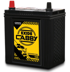 Exide Cabby, batteries for cars and SUVs