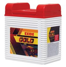 Exide Gold batteries designed for car, SUV, LCV, HCV